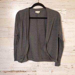 Belle Du Jour gray cardigan sweater
